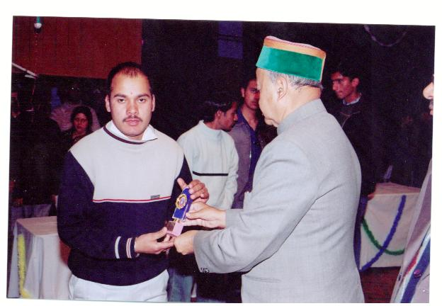 Incredible Himachal NGO Chairman Getting awards from CM for Social Activiites