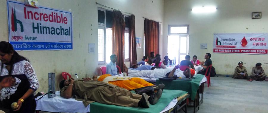 Voluntary Blood Donation Camp – Mandi – Himachal Pradesh