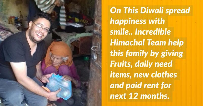 Diwali Celebration with an old couple by Incredible Himachal