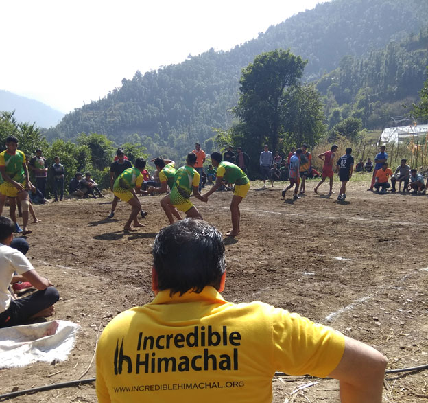 Kabbadi Tournament organized by Incredible Himachal