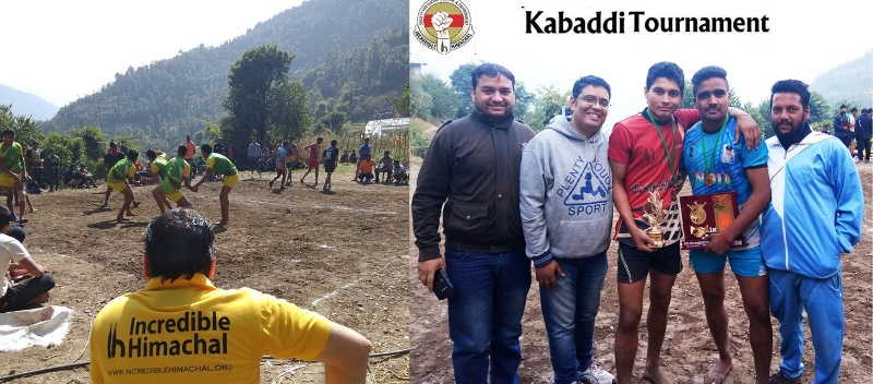 Incredible Himachal Organised kabbadi Tournament at Kanhecchi